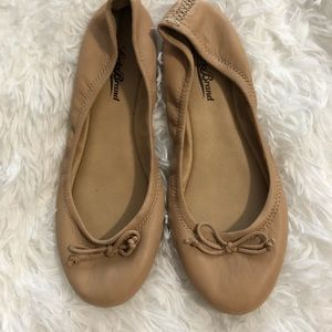 Lucky Brand Tan Leather Ballet Flat 6.5